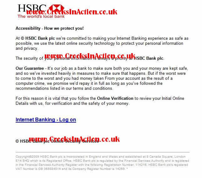 Crooks In Action - Jenson Farrago Phishing - HSBC 2